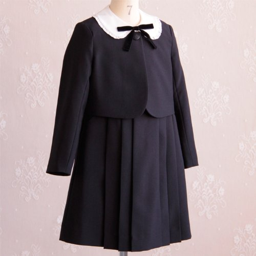 (キャサリンコテージ)Catherine Cottage 女の子スーツ 濃紺アンサンブルスーツセット TK1007 110cm 紺