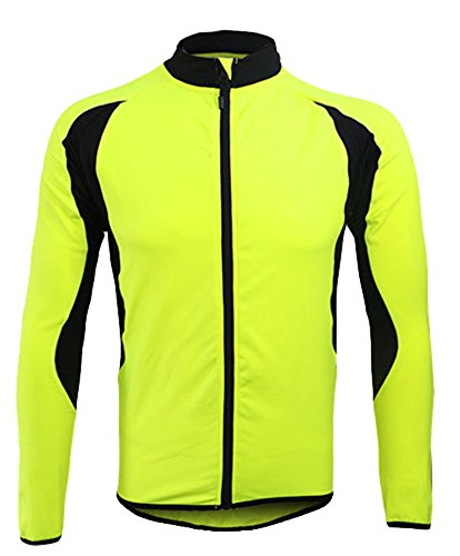 Jagger Men s Fall Fleece Contrast Warm Running Bike Cycling Sportswear  Jacket M Green 5b8508a62