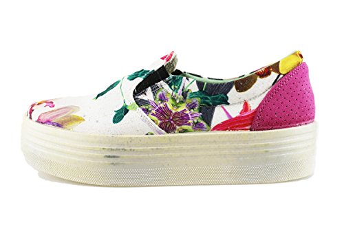 BEVERLY HILLS POLO CLUB sneakers donna multicolor tessuto camoscio AG01 (36 EU)