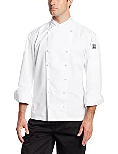 Chef Revival J006 Chef-Tex Poly Cotton Corporate Chef Jacket with White Piping and Cloth Covered Button Style, 4X-Large, White