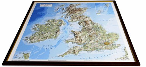 Raised relief maps - British Isles