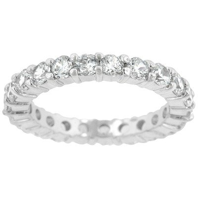 Round Cut Cubic Zirconia Jessica Eternity Band Size: 5