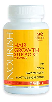 PRICE REDUCTION! Nourish Hair Growth Vitamins with Biotin and DHT Blockers- Guaranteed Improvements, Less Loss and Better Skin and Nails