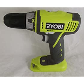 Ryobi P202 18V Lithium-Ion Drill Driver (Bare Tool Only. Battery and Charger Not Included)