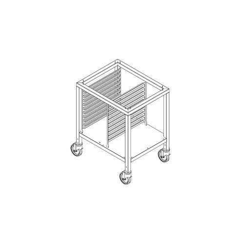 """Alto-Shaam 33-7/8"""" S/S Mobile Stand W/ Pan Slides And Shelf"""
