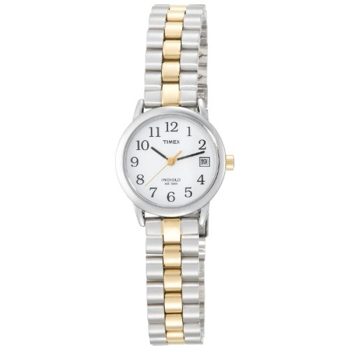 Timex Ladies Quartz Watch with White Dial Analogue Display and Multicolour Stainless Steel Bracelet T2N173P4