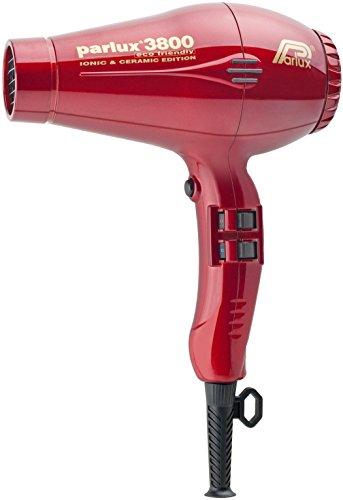 Parlux 3800 - Secador de pelo profesional de cerámica con iones, respetuoso con el medio ambiente, color rojo