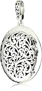 "Lois Hill ""Classics"" Large Cutout Oval Pendant Necklace Enhancer"