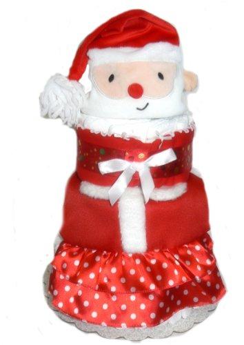 Christmas Baby Shower Diaper Cake Gift Set (Santa Baby)