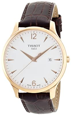 Tissot Mens Stradition Watch Gold Tone Case with Strap T063.610.36.037.00 from Tissot