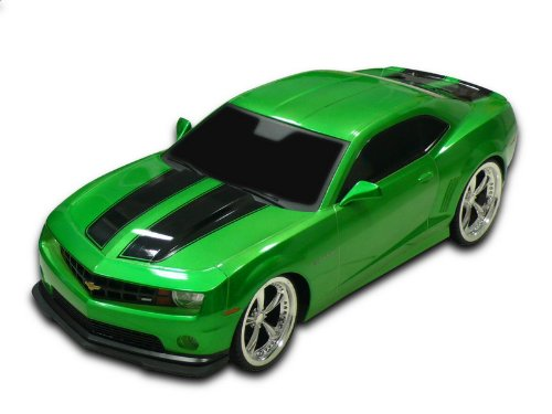 1/18 Scale 2011 Chevrolet Camaro RS SS Green w/ Black Stripes Radio Remote Control Car RC