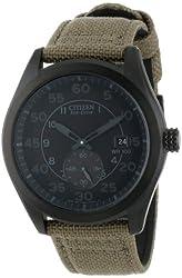 Citizen Men's BV1085-31E  Eco-Drive Tan Nylon Strap Watch