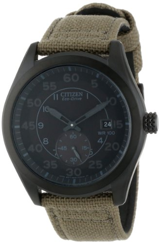 Citizen Men'S Bv1085-31E Eco-Drive Tan Nylon Strap Watch