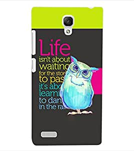ColourCraft Quotes Back Case Cover for XIAOMI REDMI NOTE