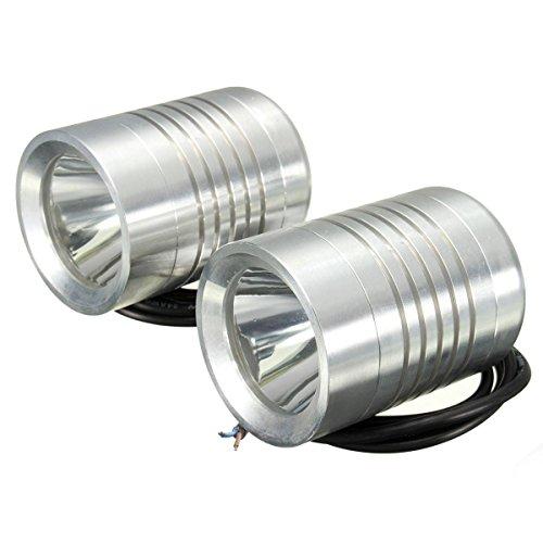 AUDEW 2X 12V 30W U2 Moto Phare HeadLight Spot Light Hi/Lo Faisceau Lamp Chrome