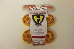 Set of 4 HYPER Inline Wheels Skate Pro 250 Outdoor Hockey 68mm 82A # 127214 by HYPER HOCKEY