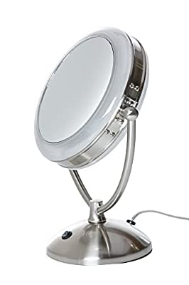 Best Cheap Deal for Rialto 10X Plus 1X Daylight Cosmetic Mirror from Floxite Company, Inc. - Free 2 Day Shipping Available