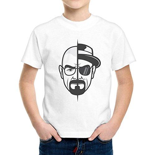 T-Shirt Bambino Ragazzo Heisenberg Doppia Faccia Walter White Breaking Bad -