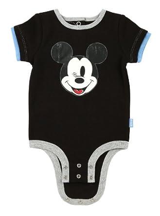 "Disney Mickey Mouse ""Wink"" Cuddly Bodysuit, Black, 3-6 Month"
