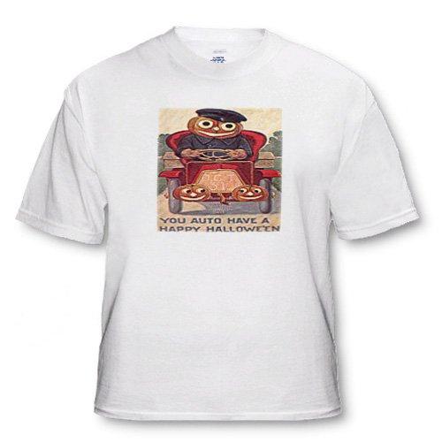 Vintage Halloween Jack o Lantern Auto - Toddler T-Shirt (4T)