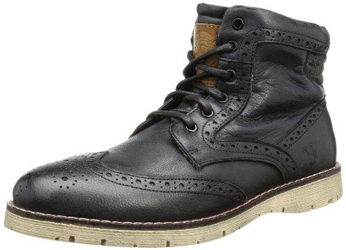 Bruno Banani Mens BOHEMIAN Desert Boots Black Schwarz (Black/Black/Tan 603) Size: 9 (43 EU)