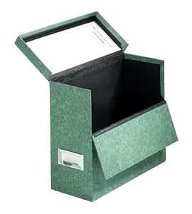Globe-Weis Fiberboard Transfer Case, Letter Size, Drop Front, Green (591 GRE)