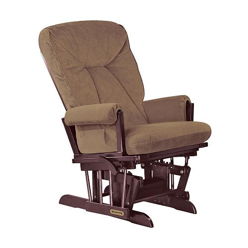 Shermag Grande Glider Cherry Finish With Coffee Fabric front-651735