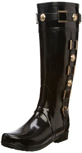 Hunter Women's Regent Hurlingham Black Wellington Boot W24145 5 UK