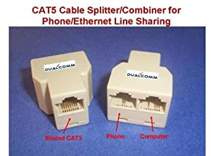 RJ45 / RJ11 Cable Sharing Kit - Connecting your Ethernet and Telephone lines by One Network Cable