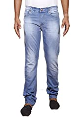 John Wills Men's Slim Fit Jeans (MCR1018--30, Blue, 30)