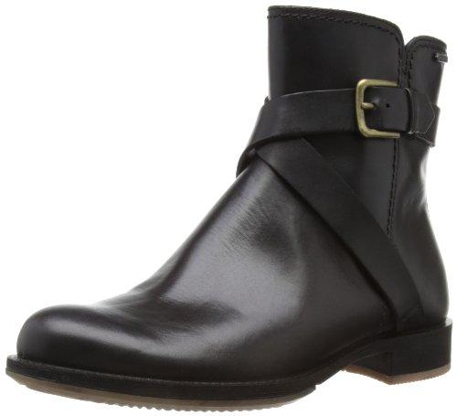 ECCO Women's Saunter GTX Zip Flat Boot,Black,41 EU/10-10.5 M US