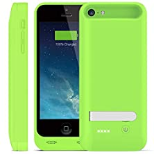 buy Iphone 5/5S/5C Battery Case,Ifans® [Apple Mfi Certified] 2400Mah Slim External Removable Rechargeable Backup Battery Charger Case Power Case Cover Fits All Models Of Iphone 5/5S/5C Built-In Kickstand And Micro-Usb Charging Port Lightning Connector Output