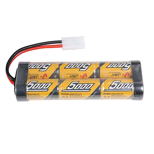 7.2v 5000mAh NiMH Rechargeable Battery Packs For RC Cars,Electric Rc Monster Trucks,Traxxas, LOSI, Associated, HPI, Tamiya, Kyosho With Tamiya Connectors (Rc Car Lipo Battery Pack compare prices)
