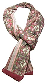 Anokhi 100% Cotton Voile Rose Mosiac Fashion Scarf *New for Spring