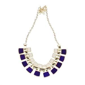 Nicerocker Hot Fashionable Hollow Out Enamel Punk Statement Alloy Necklaces ((Purple))