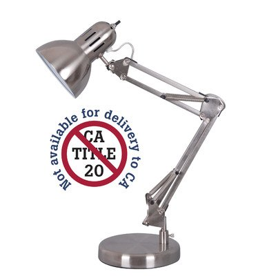 Alvin FD206ST Architect Desk Lamp , Satin Steel Finish