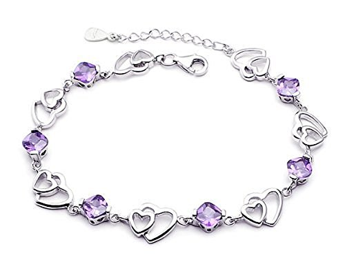 findout-ladies-swarovski-element-silver-solidarity-and-double-heart-shaped-amethyst-braceletf20