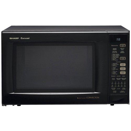 Sharp R-930Ak 1-1/2-Cubic Feet 900-Watt Convection Microwave, Black