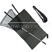 Oakwood Carp Folding Landing Net And Handle + Folding Unhooking Mat by Redwood Tackle