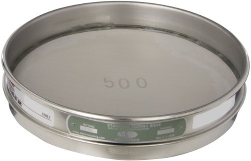 advantech-500ss8h-stainless-steel-half-sieve-8-diameter-500-mesh-size-by-advantech