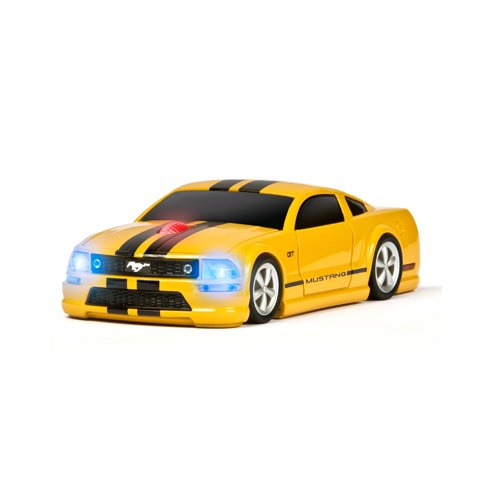 Wireless Mouse - Mustang Gt Yellow With Black Stripes