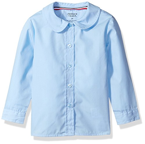 French Toast Girls' Little Girls' Long Sleeve Peter Pan Collar Blouse, Light Blue, 6X (Peter Pan Backpack compare prices)