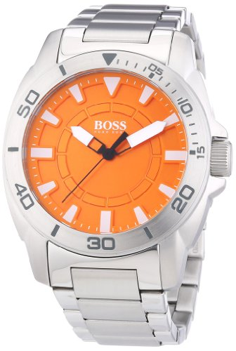 Hugo Boss Orange Men's 45mm Steel Bracelet & Case Quartz Analog Watch 1512947