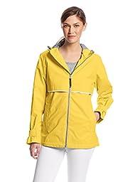 Charles River Apparel Women\'s New Englander Waterproof Rain Jacket, Buttercup Reflective, Small