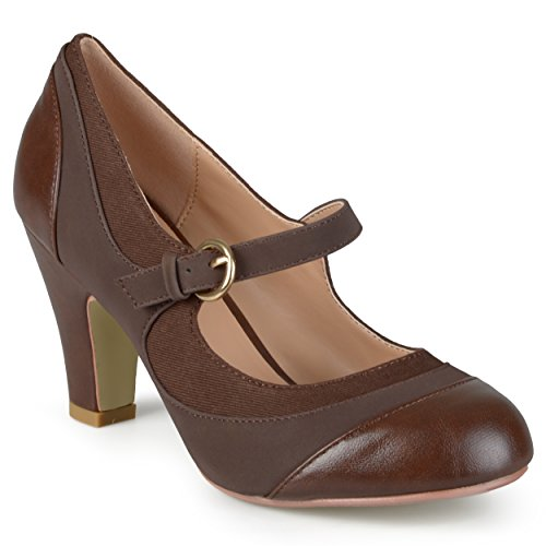 Brinley-Co-Womens-Tweed-Two-tone-Mary-Jane-Pumps
