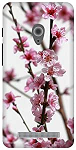 The Racoon Grip pink flower bough hard plastic printed back case / cover for Asus Zenfone 5 A500CG/A501CG