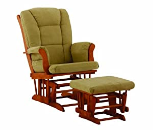 Stork Craft Tuscany Glider and Ottoman, Oak/Sage (Discontinued by Manufacturer)