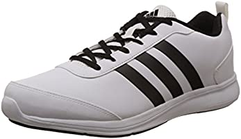 adidas Men's Alcor Syn 1.0 M White and Black Running Shoes - 9 UK
