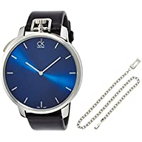 Calvin Klein K3Z211CN Exceptional Men's Quartz Watch (Blue Dial)