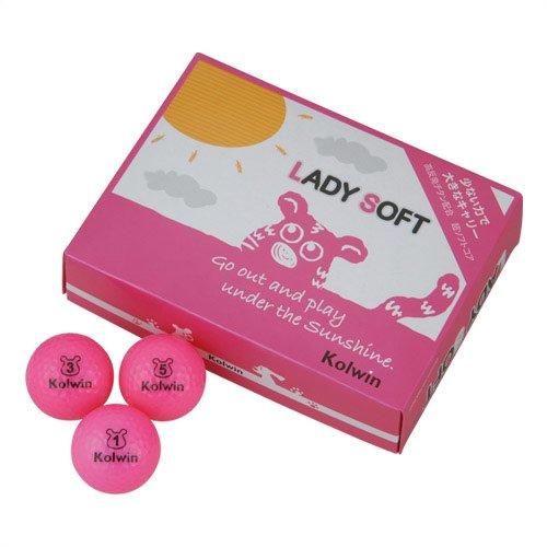 コルウィン ゴルフボール:ローズピンク LADY SOFT RO(3個入)